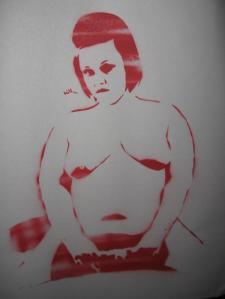 Milla Monroe Stencil Fan Art
